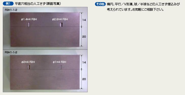 昭和製作所 超音波探傷用内封きず型対比試験片 人工きず
